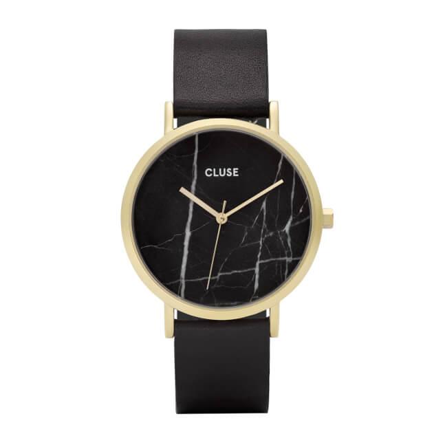 Cluse La Roche Gold Black Marble/Black