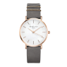 Hodinky Rosefield The West Village Rosegold White / Elephant Grey