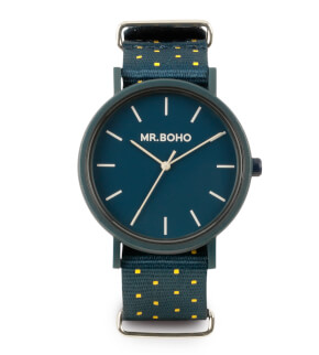Hodinky Mr. Boho Gomato Yellow/Blue Square