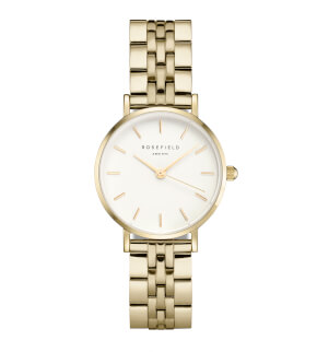 Hodinky Rosefield The Small Edit White Steel Gold 26mm