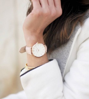 Hodinky Cluse Minuit Rose Gold White/Pink