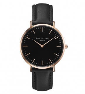 Hodinky Rosefield The Bowery Rosegold Black/Black