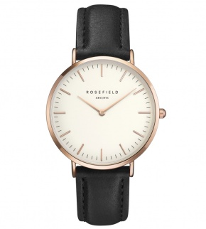 Hodinky Rosefield The Bowery Rosegold White/Black