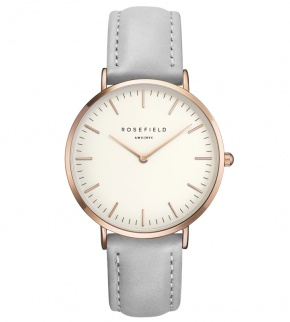 Hodinky Rosefield The Bowery Rosegold White/Grey