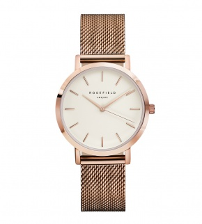Hodinky Rosefield The Tribeca Rosegold White