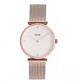 Hodinky Cluse Triomphe Rose Gold Bicolour Mesh