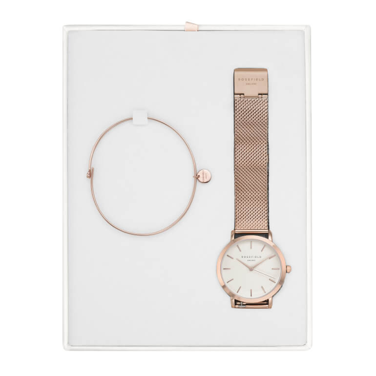 Darčekový box - Tribeca White Rose Gold + Wooster Rose Gold Small
