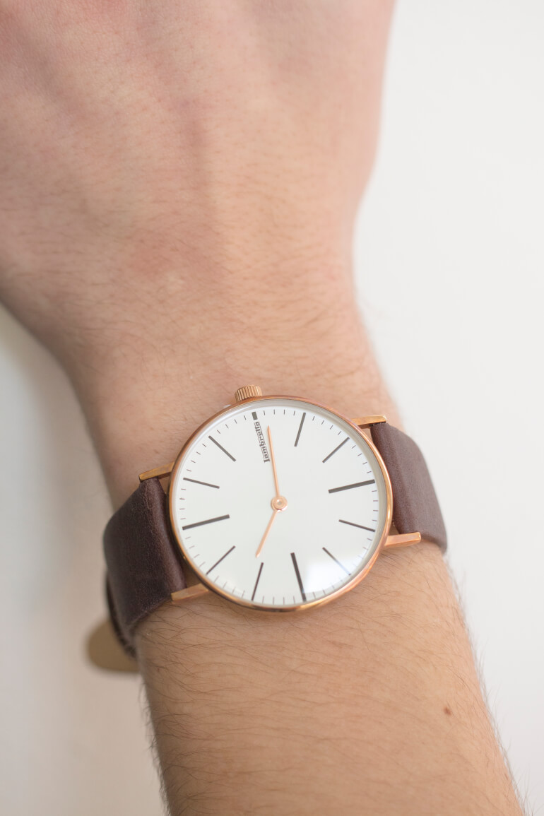 Cesare 42 RoseGold White Brown