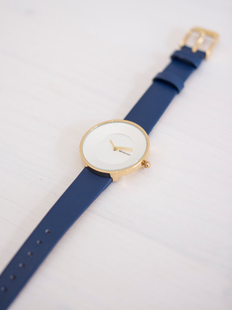 Cielo 34 Leather Gold White Navy