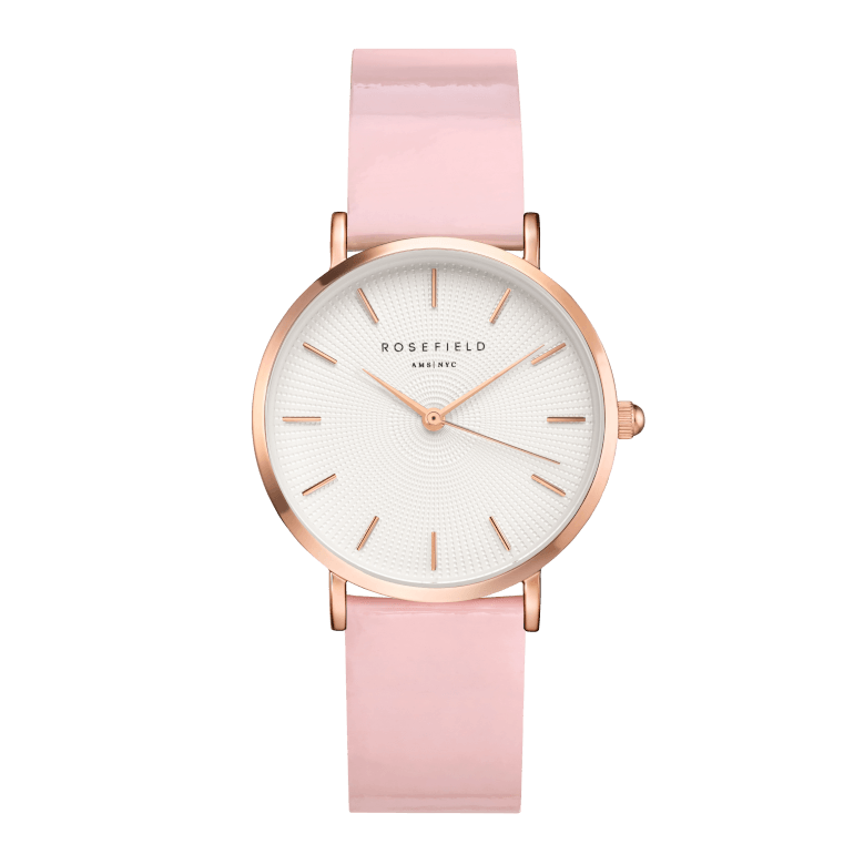 Premium Gloss White Pink Rosegold 33mm