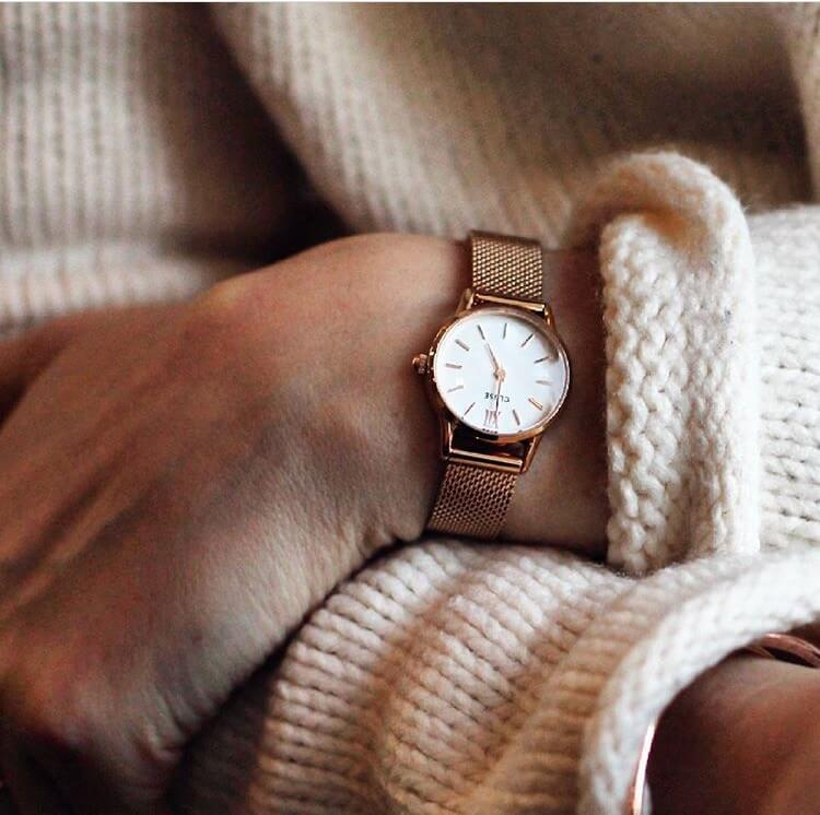 La Vedette Mesh Rose Gold/White