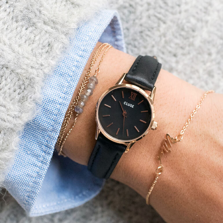 La Vedette Rose Gold Black/Black