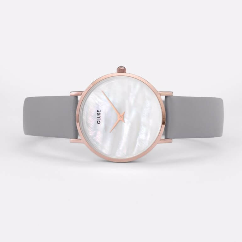 Minuit La Perle Rose Gold White Pearl/Stone Grey