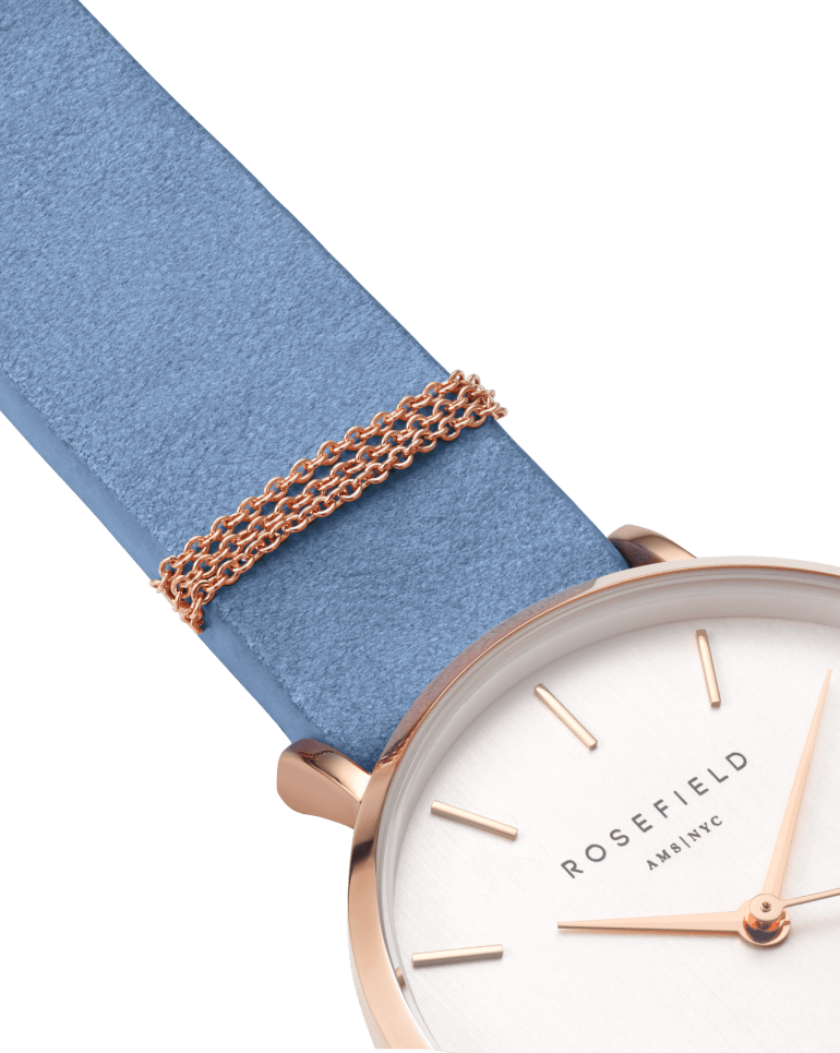 The West Village Rose Gold White / Airy Blue